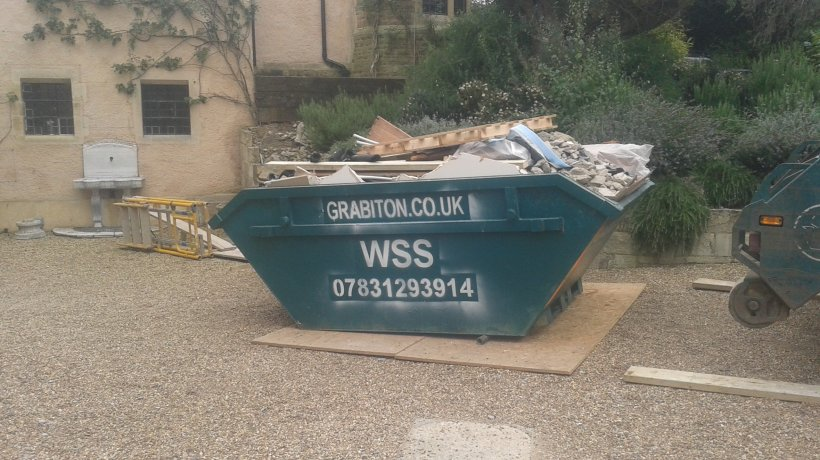 Skip in drive of Wimbledon house